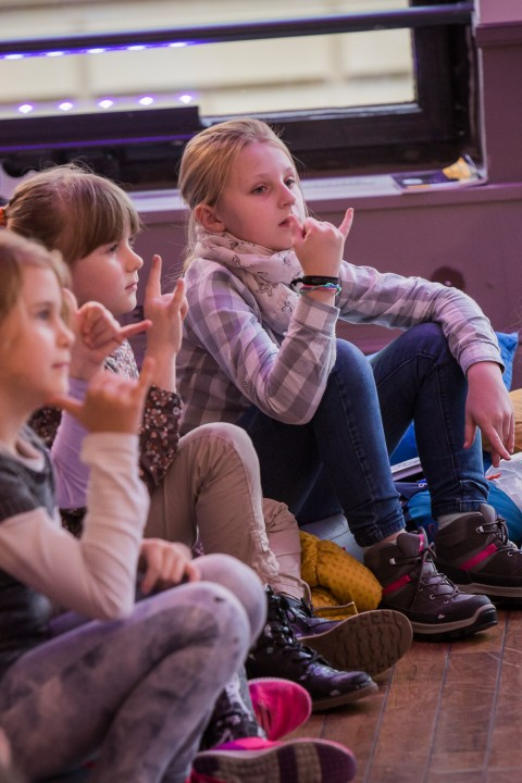 Conrad Festival 2017, DeafRespect. A workshop for children about the language and the culture of the Deaf