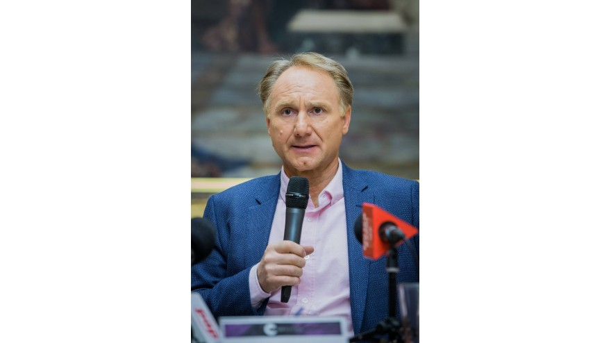 Conrad Festival 2017, Press briefing with Dan Brown